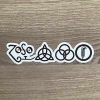 "Led Zeppelin Symbols 5"" Wide Vinyl Sticker - BOGO"