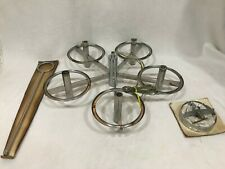 Vintage Chrome Mid Century Modern Light Made in Italy
