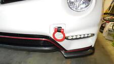 RACING STEEL TOW HOOK RED CUSTOM FIT 08 09 10 11 12 13 14 15 NISSAN GTR R35