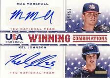 2013 Team USA Baseball MAC MARSHALL/KEL JOHNSON Dual Autograph Auto 26/50