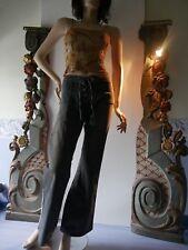 LA BRIGADA INTERNACIONAL jeans pantalon jeans large évasé 40 rayures côté neuf