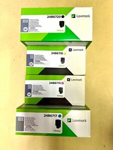 Original Toner Set Lexmark XC4140, XC4150, XC4153 schwarz, magenta, cyan, gelb