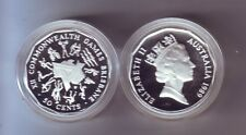 1989 50 Cent SILVER Proof Brisbane Commonwealth Games ex Masterpieces in Silver