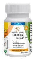 L-Methionine Capsules Free Form 99% pure Aid weight loss Detox Joint Health