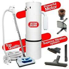 7,500 sq ft Home Ultra Clean Central Vacuum Systems Electric Vac  30' Hose Kit