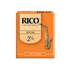 Rico Alto Sax Reed 2.5 - Box of Ten Reeds - Saxophone Reeds