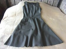 Grey leather look sleeveless dress by RESERVED Labelled 36 Size 8