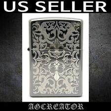 New Japan Korea Zippo lighter crest black blackice engraved US SELLER