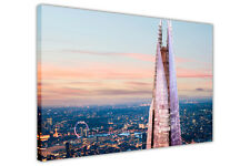 LONDON SUNSET WITH THE SHARD ON FRAMED CANVAS WALL ART PRINTS CITY PICTURES