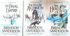 Brandon Sanderson 3 Books Trilogy Collection Set Mistborn Novel Series Paperback