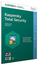 Kaspersky Total Security 2017 3 PC / Gerät 1Jahr Vollversion Key ESD Download