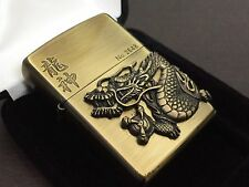 "RARE! ZIPPO Limited Edition ""龍神: Dragon God"" 3D Lighter Bronze-ish Gold No.2648"