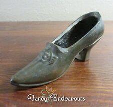 Antique Metal Brass USA Miniature Shoe