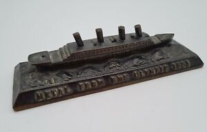 Vintage RMS Olympic Bronze? Paperweight - Made From The Metal Off The Ship