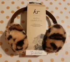 BNWT Kit-Sound Audio Headphone Earmuffs - Leopard Print Adjustable Headband