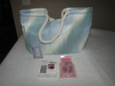 Yankee Candle Tote Bag Red Wine Charm Pink Sands Car Jar Ultimate LOT x 3 NEW!!!