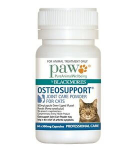 Paw Osteosupport Joint Care Powder Capsules for Cats - 60s - Made in Australia