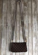 LOUIS VUITTON Damier Ebene Canvas Pochette Clutch Crossbody Bag RARE!