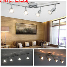 5W 4 Heads LED Track Lighting Rail Spotlight Adjustable Floodlight Ceiling Lamp