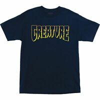 Creature Logo Outline T-Shirt - Size: SMALL Navy