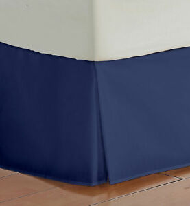 Bed Skirt Select Drop Length All US Size Navy Solid 1000 TC Egyptian Cotton