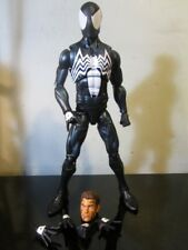 marvel legends 12 inch spiderman black suit symbiote action figure~