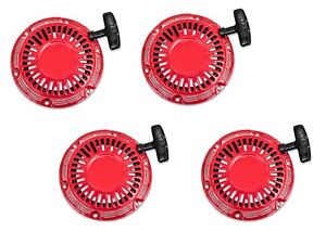 New 4 Pack Of Pull Start Red Recoil Cover 5.5HP & 6.5HP Fits Honda GX160 & GX200
