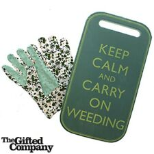 Keep Calm & Carry On Weeding - Kneeling Knee Pad & Gloves (Size S-M)