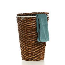 Wäschekorb Wäschetruhe aus Wasserhyazinthe Akita braun 54 x 38 cm