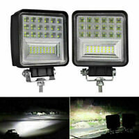 "2x 4"" 126W LED Square Work Light Bar Spot Driving Fog Lamp Offroad SUV Truck ATV"