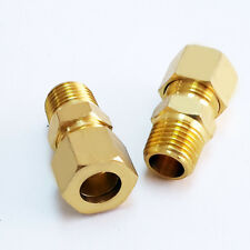 2 X Pneumatic Air Compression Brass Fitting 1/4 BSP Male Thread To 3/8 Tail