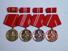 DDR Medaille Treue Dienste Kampfgruppe komplett gold silber bronze 25 Jahre gold