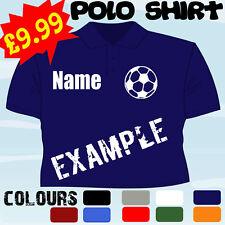 FOOTBALL TEAM PLAYER CLUB PERSONALISED T POLO SHIRT