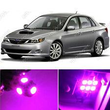 8 x Premium Hot Pink LED Lights Interior Package Kit for Subaru Impreza