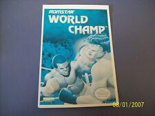 WORLD CHAMP  NES 8 Bit Nintendo Vidpro Card