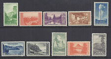 US 1934 National Parks Year Set of 10, Complete - 740-749 Mint Hinged MH*