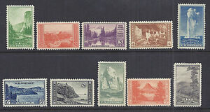 US 1934 National Parks Year Set of 10, Complete - 740 749 budget set