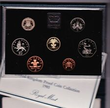 More details for royal mint 1985 standard proof set of 7 coins with certificate