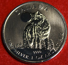 2011 CANADIAN WOLF DESIGN 1oz .999% SILVER WILDLIFE SERIES COLLECTOR COIN GIFT