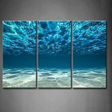 Canvas Prints Blue Ocean Wall Art Decor Pictures - 3 Panel Wall Art Can... , New
