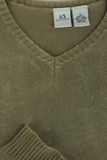 Armani Exchange Men's Knitted Tarnished Brown Cotton Light Sweater M Medium