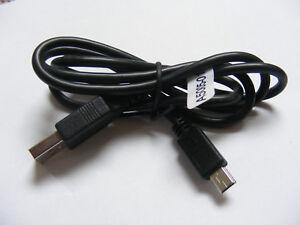 JOB LOT OF x5 SANEI USB TO USB MINI TYPE B 5 PIN 90cm CABLES P/N A5005-017