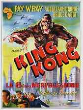 KING KONG MOVIE POSTER- BELGE ARTWORK  STYLE A  - UNIQUE AT EBAY ONLY   $5.99