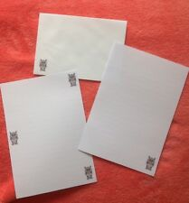 Owl lined letter writing paper set with matching envelopes