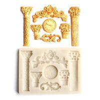 3D European Column Rome Pillar Silicone Chocolate Mould DIY Cake Baking Tool