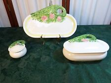 1977-3pc Beautiful Byron Molds Tray & Bowls Set w/Lids