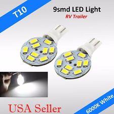 10x T10/921/194/ White RV Trailer Interior 12V 5630 9 LED Light Bulbs 660Lumen
