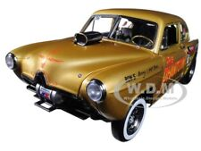 "1951 KAISER HENRY J GASSER GOLD ""THE PHANTOM"" 1/18 DIECAST MODEL BY SUNSTAR 5100"