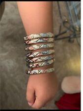 7 Bracelets Tricolor Chapa Girls Semanario Chapa de Oro 3 colore Size 4