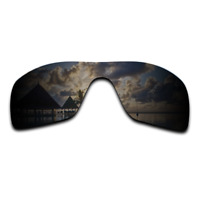 Polarized Stealth Black Replacement Lenses for-Oakley Batwolf Sunglasses